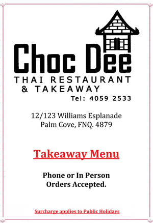 choc dee thai take away menu