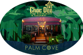 choc dee palm cove at night graphic device