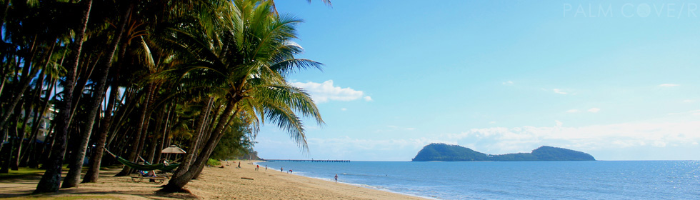Palm Cove beach to pier north, inlcuding Double Island