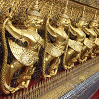 Traditional Thai wat art